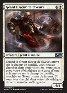 MTG Magic M15 - 4x French//VF Boonweaver Giant//Géant tisseur de faveurs