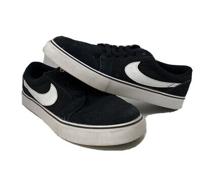 fantasma Jarra Clasificar  Nike SB Satire II Low Top Sneaker Shoe Black White 729809-001 Mens 8 | eBay