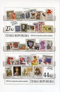 Republique-tcheque-2018-neuf-sans-charniere-tchecoslovaque-timbres-100-ans-2-V-M-S-timbres-sur