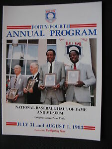 1983-BASEBALL-HOF-INDUCTION-PROGRAM-BROOKS-ROBINSON-KELL-MARICHAL-ALSTON