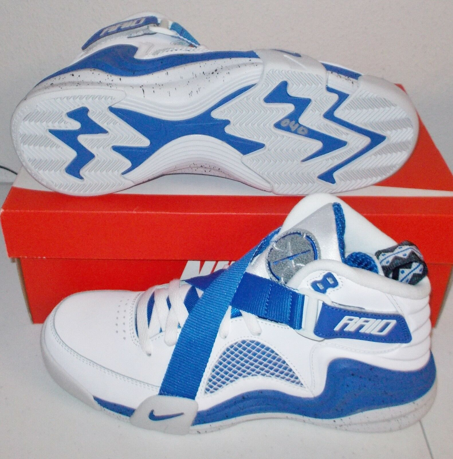 NEW NIKE LUNAR RAID White Royal MENS 8.5 Vintage Classic NIB 145