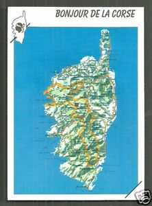 Map Of France And Corsica.Map Postcard Corse Corsica France Ebay