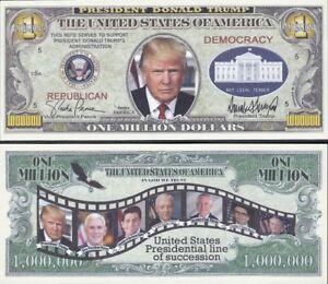 FREE SLEEVE Coast to Coast Eagle 50 States Dollar Fake Funny Money Novelty Note
