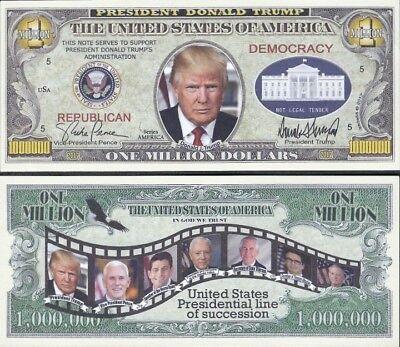 FREE SLEEVE Toy Story Million Dollar Bill Fake Play Funny Money Novelty Note