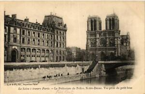 CPA-La-Seine-a-travers-de-PARIS-4e-La-Prefecture-de-Police-560178