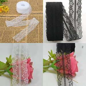1-Roll-10M-Wholesale-Beautiful-Handicrafts-Embroidered-Ribbon-Trim-Lace-Net-U6B3