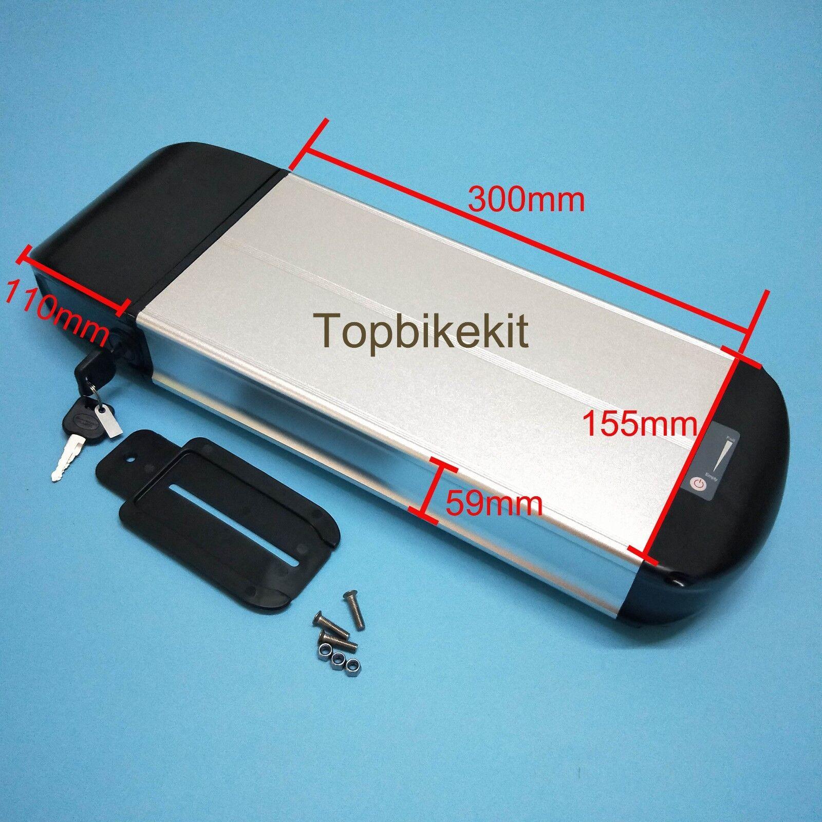 Ebike 36v Li-ion Battery Dolphin case Aluminium Battery Case for 18650 + Carrier