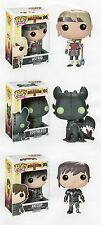 "Funko Disney HOW TO TRAIN YOUR DRAGON 3PC 3.75"" POP SET HICCUP ASTRID TOOTHLESS"