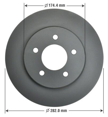 Disc Brake Rotor-Fully Coated Premium Brake Rotor Front OMNIPARTS 13064085