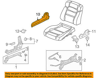 Honda Genuine 81638-S84-A10ZB Seat Reclining Cover