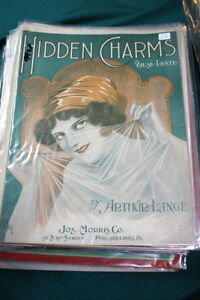 #9926, Hidden Charms, 1913 Rarement Vu Sheet Music-afficher Le Titre D'origine