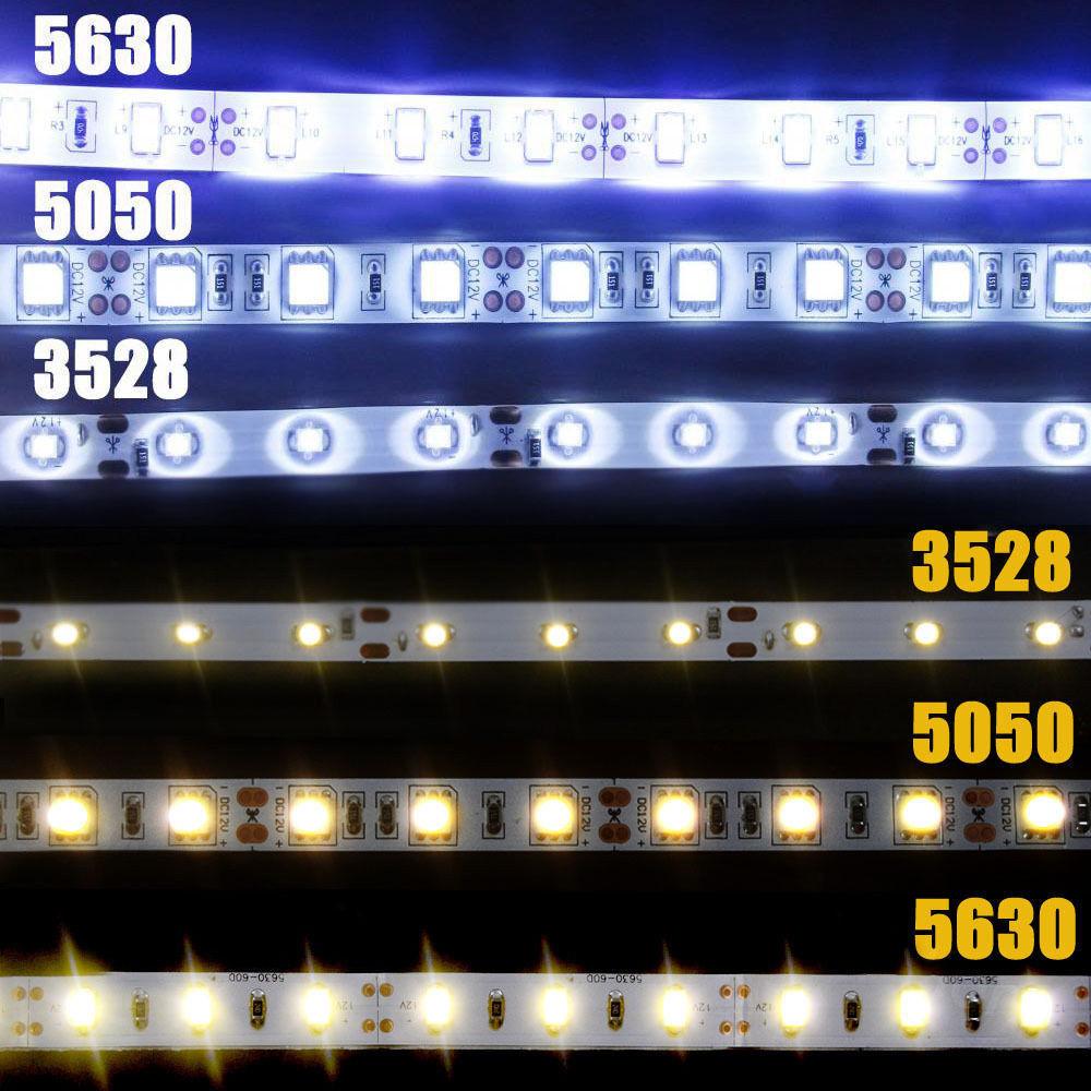 5m 3528 5050 5630 3014 smd flexible led strips cool white warm white