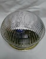 Seagull Lighting Close To Ceiling Polished Brass Clear Ribbed Glass 12317