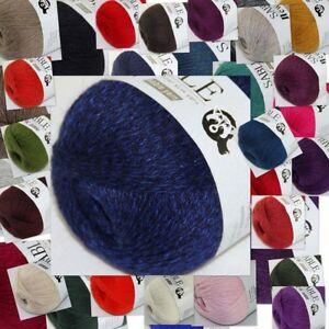 Sale-Super-Soft-Pure-Sable-Cashmere-Shawls-Hand-Knitting-Wool-Crochet-Yarn-50g