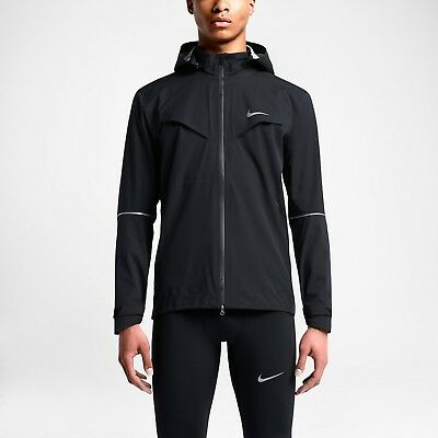 Nike Rain Runner 616222 010 BlackReflective Silver Men's Running Jacket Sz M 883212969620 | eBay