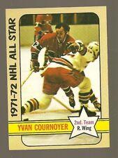 1972 - 73 Topps Hockey Set YVAN COURNOYER All Star Card - CANADIENS