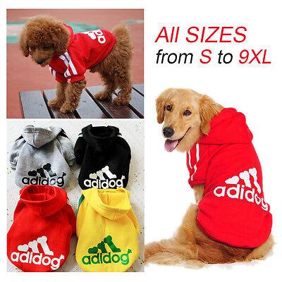 Adidog Dog Sweater Hoodie Jumper Clothing Jacket All Sizes
