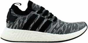 ba6141ef9 Image is loading Adidas-NMD-R2-Primeknit-Core-Black-White-BY9409-
