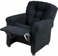 Child Recliner Chair Toddler Kids Easy Chair Gaming Chair Black Family Room
