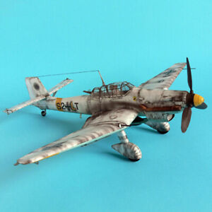 1-33-Germany-Junkers-Ju-87-D-3-Bomber-Aircraft-Plane-DIY-Paper-Model-Kit-PL