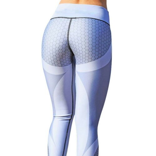 Womens Sport Compression Leggings Running Yoga Gym Pants Workout Fitness Trouser