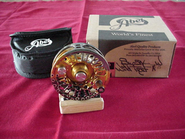 Abel Fly Reel Super 3N Wild Trout Fish Graphic Reel NEW GREAT