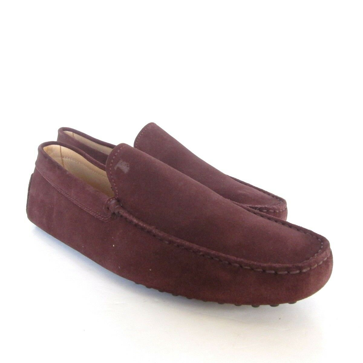 W-2032160 New Tods Brown Suede Gommini Drivers Loafers Size 10.5 US-11.5