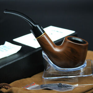 Wooden-Enchase-Smoking-Durable-Pipe-Tobacco-Cigarettes-Cigars-Pipes-Gift