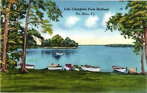 Vintage Postcard -  Lake Champlain From Birdland Water Boats Vermont VT #1860