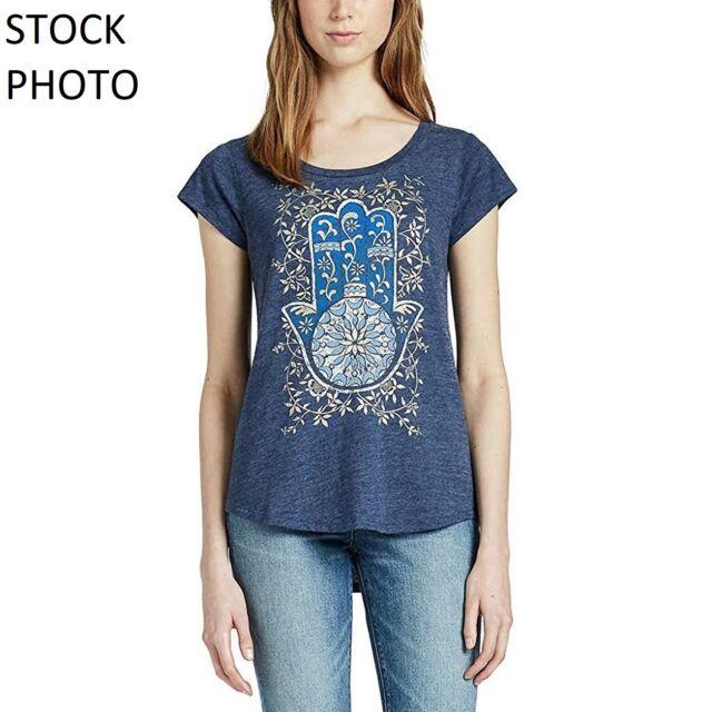 5225ee03f Womens Navy Lucky BRAND S/s Bohemian Graphic T-shirt Size 2xl XXL ...