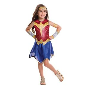 Girl-039-s-Wonder-Woman-Movie-Costume-Dress-Belt-Gauntlets-Tiara-Armband-Child-S-M-L