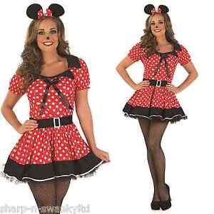 Details about Ladies Red Missy Minnie Mouse Fancy Dress Party Costume  Outfit 8-26 Plus Size