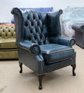 Strange Chesterfield Georgian Queen Buttoned High Back Wing Chair Inzonedesignstudio Interior Chair Design Inzonedesignstudiocom