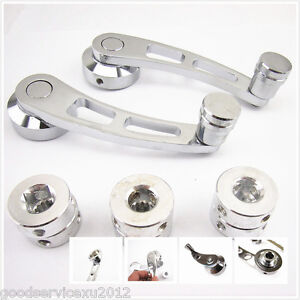 One pair chrome aluminum car window door crank replacement Window crank motor