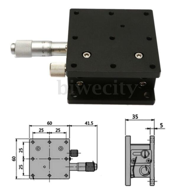 Z-axis Precision Linear Stage Micrometer Platform 60x60mm For CNC DIY 3D Printer