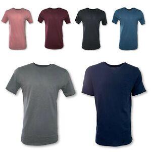 Men-039-s-T-Shirt-Long-HIPSTER-Basic-Fashion-Tee-Casual-Hip-Hop-Crew-Neck-Pocket-T