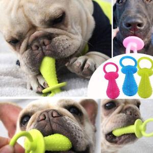 1X-Juguete-Perro-chupete-goma-mascotas-limpieza-dientes-resistente-a-mordeduras