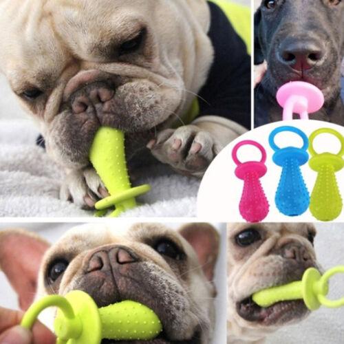1x pet chew bell rubber pacifier dog toy bite resistant clean teeth toy randomJK