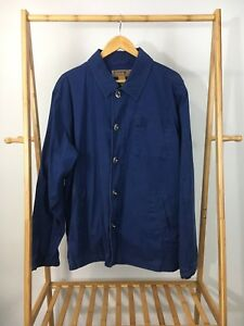 VTG-Sperry-Top-Sider-Men-039-s-Nautical-Seaman-Lock-Buckle-Blue-Jacket-Shirt-Size-XL