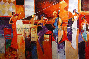 The-Music-Lesson-Original-Modern-Handmade-Oil-Painting-on-Canvas-36-034-x-24-034