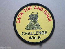Back Tor And Back Challenge Walk Walking Hiking Cloth Patch Badge