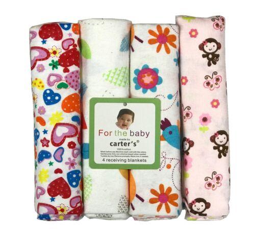 """4pcs Bébé Unisexe Nursing Wrap Flanelle recevant Couvertures Pack 30/""""x 30/"""" Set B"""