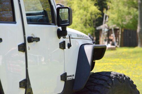 """2006-2010 Hummer H3 FITS **SHORT**  4/"""" BLACK ALUMINUM ANTENNA MAST"""