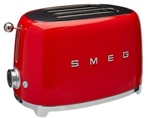 Red Smeg TSF01RDUS 50/'s Retro Style Aesthetic 2 Slice Toaster