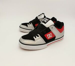 5bb86b4459 Image is loading RARE-DC-Pure-XE-DGT-Skateboard-Shoes-SilverBlackRed-