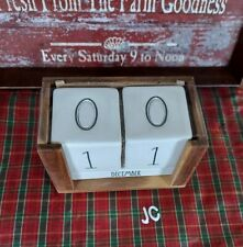 Rae Dunn Calendar Ceramic Amp Wood Perpetual Block New With Tag Htf