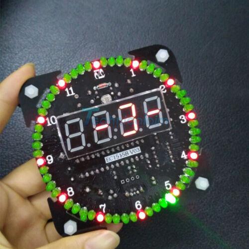 DS1302 Rotating LED Electronic Digital Clock 51 Learning Board 5V DIY Time Alarm