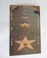 Vintage Hollywood CA Walk of Fame Randolph Scott & Gary Cooper Stars Postcard