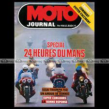 MOTO JOURNAL N°456 JEAN-CLAUDE CHEMARIN TRIUMPH 750 BONNEVILLE 24H DU MANS 1980