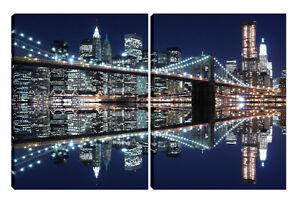 Quadro moderno su tela arredo salotto soggiorno NEW YORK CITY 2pz ...